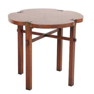 Heritage Furniture Fruitwood Clover Style Side Table, 1970s