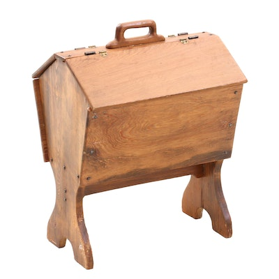 Pine Sewing Stand, Mid-20th Century