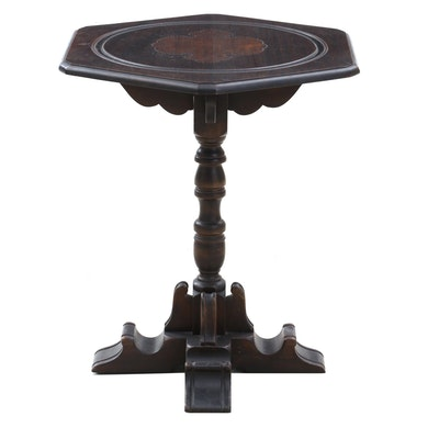 Renaissance Style Walnut Side Table, Circa 1930