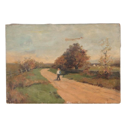 Early 20th Century Landscape Oil Painting