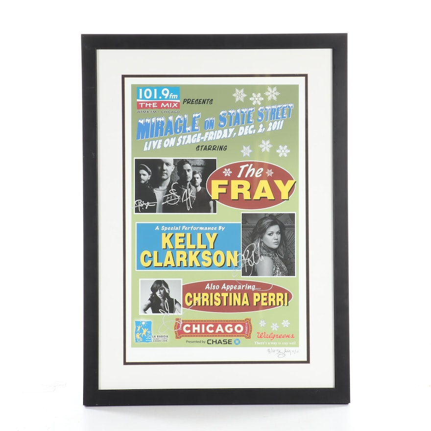Autographed Kelly Clarkson & The Fray Poster from Chicago Miracle on State St