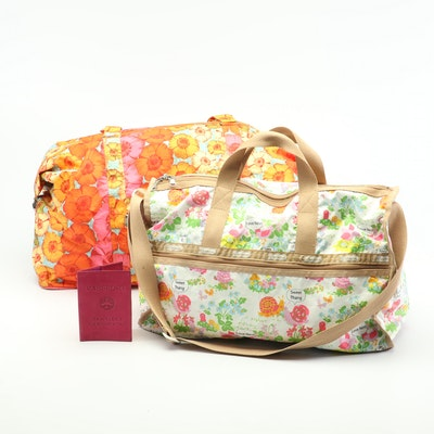 Oilily and LeSportsac Weekender Bags with Suede Passport Cover
