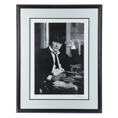 "Max Scheler Offset Lithograph of John Lennon ""Fan Mail"""