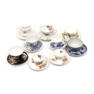 Porcelain Teacups Including Paragon, Wedgwood, Royal Worcester and More
