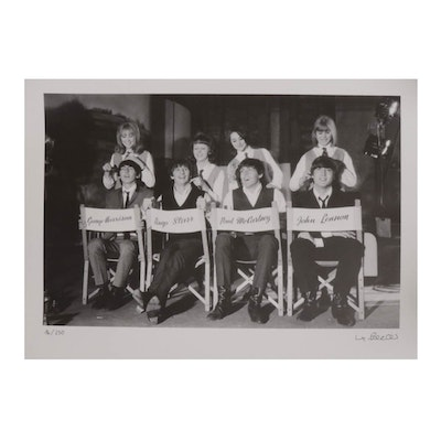 "Max Scheler Offset Lithograph of The Beatles ""Haircuts"""