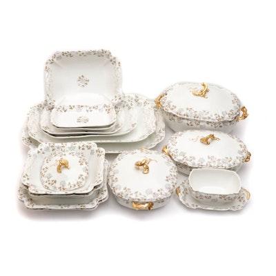 Haviland Limoges Hand-Painted Porcelain Seveware, Vintage