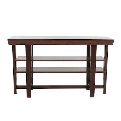 Contemporary Fruitwood Finish Sofa Table