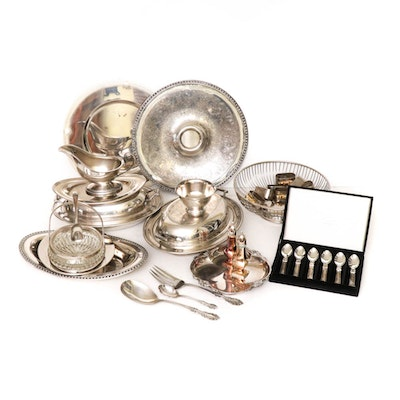 Silver Plate Tableware and Flatware