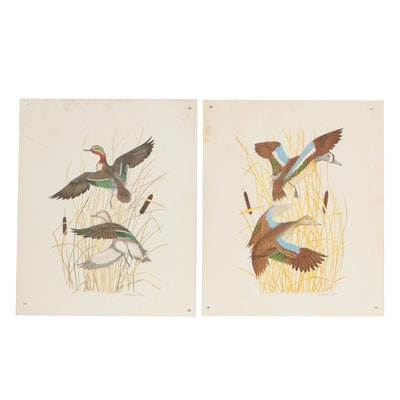 Gordon Tate Lithographs of Waterfowl