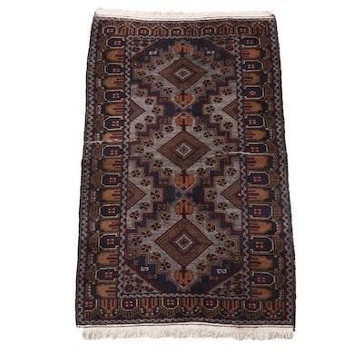 Hand-Knotted Indo-Anatolian Wool Rug