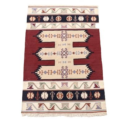 Handwoven Anatolian Wool Kilim Rug