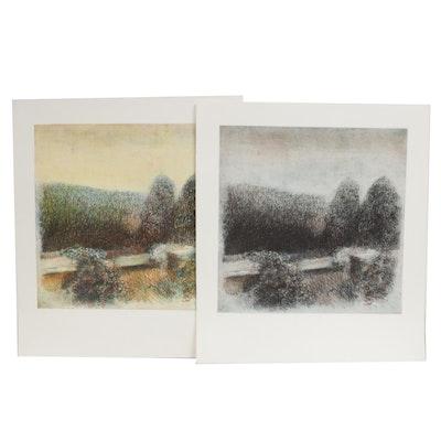 "James Wilson Rayen Intaglio Prints ""Beyond the Wall"""