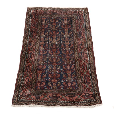 Hand-Knotted Northwest Persian Mir Boteh Wool Rug