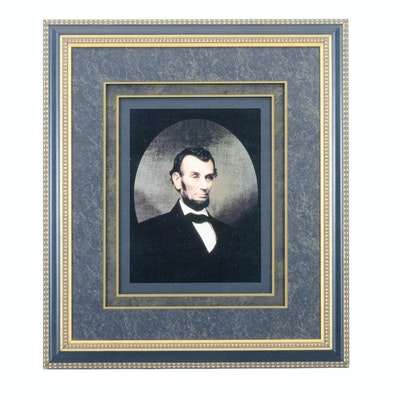 Offset Lithograph after Peter Baumgras Portrait of Abraham Lincoln