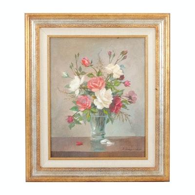 Gertrude Grigorov Floral Still Life Oil Painting