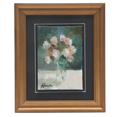 Sally Rosenbaum Floral Still Life Oil Painting