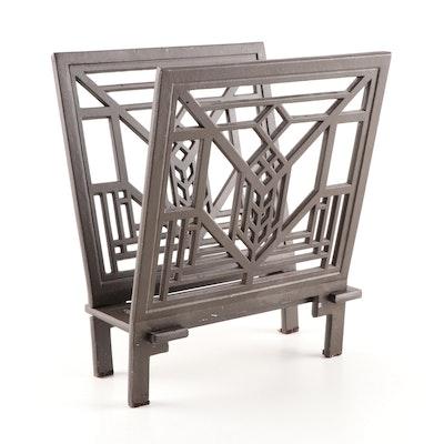 Craftsman Style Magazine Rack, Contemporary