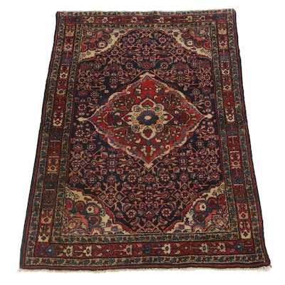 3'7 x 4'11 Hand-Knotted Persian Malayer Rug, circa 1920