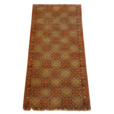 2'8 x 5'9 Hand-Knotted East Turkestan Khotan Rug, circa 1920