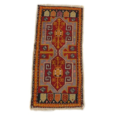 1'6 x 3'8 Hand-Knotted Turkish Village Rug, circa 1920