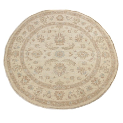 5'2 x 5'2 Hand-Knotted Pakistani-Persian Tabriz Round Rug