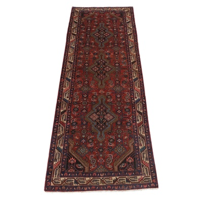3'6 x 10'3 Hand-Knotted Northwest Persian Carpet Runner
