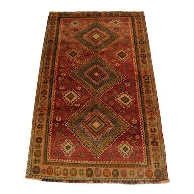 4'0 x 7'3 Hand-Knotted Persian Qashqai Shiraz Rug