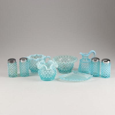 "Fenton Glass ""Hobnail Blue Opalescent"" Tableware"