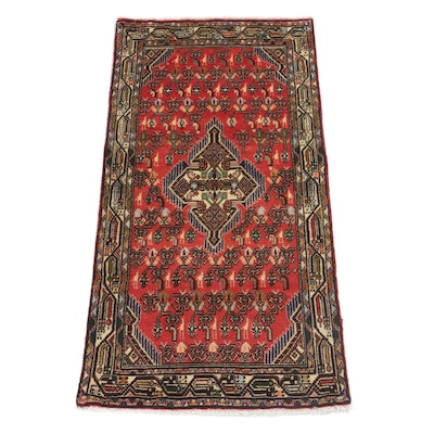 2'5 x 4'7 Hand-Knotted Persian Malayer Rug, circa 1970