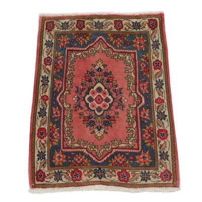 2'4 x 3'3 Hand-Knotted Persian Sarouk Rug, circa 1970