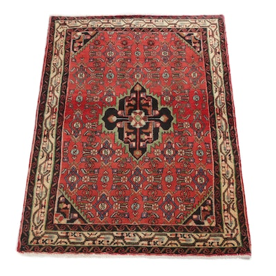 3'8 x 5'0 Hand-Knotted Persian Malayer Rug, circa 1970
