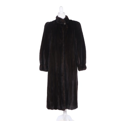 Mink fur Coat from The Christie Brothers with Tapered Cuffs, Vintage