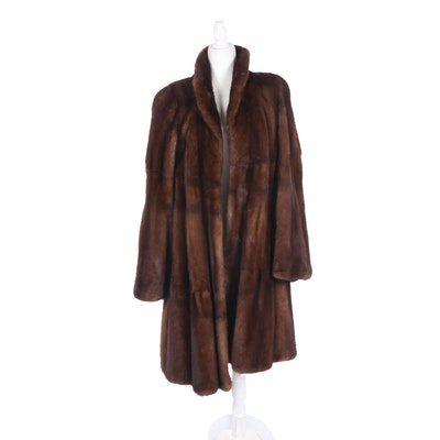 Saga Mink Fur Coat from Crown Furs of Boston, Vintage