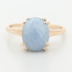 10K Yellow Gold 6.42 CT Star Sapphire Ring