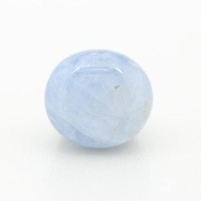 Loose 6.85 CT Blue Star Sapphire Gemstone