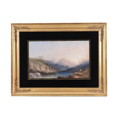 G. Dalpine Acrylic Landscape Painting