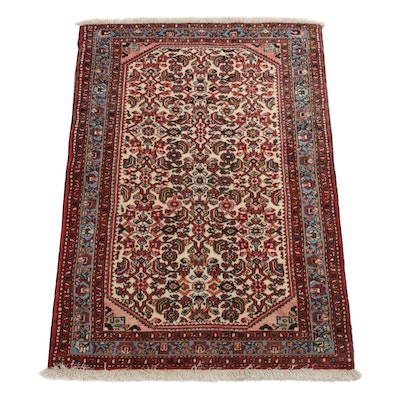 3'4 x 5'0 Hand-Knotted Persian Malayer Rug, circa 1970