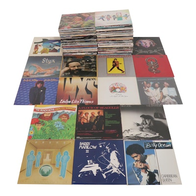Vinyl Records Featuring Marvin Gaye, Toto, Styx, Beach Boys, Queen