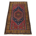 3'10 x 6'9 Hand-Knotted Turkish Village Rug, circa 1970