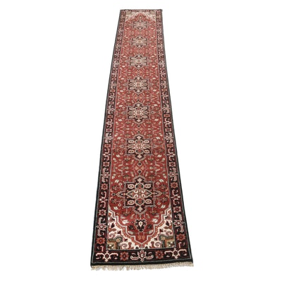 2'6 x 16'1 Hand-Knotted Indo-Persian Heriz Carpet Runner