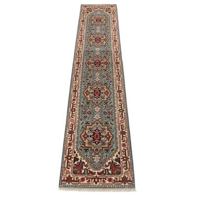 2'6 x 12'4 Hand-Knotted Indo-Persian Heriz Serapi Carpet Runner