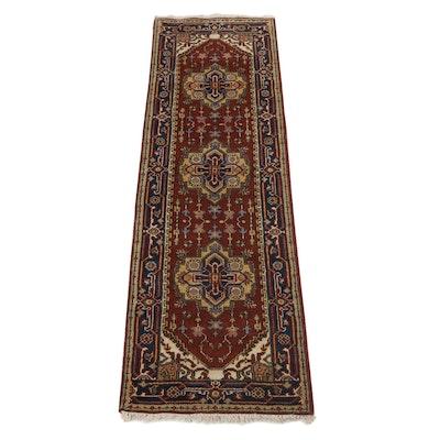 2'6 x 8'1 Hand-Knotted Indo-Persian Heriz Serapi Carpet Runner