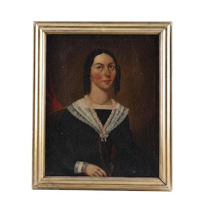 19th Century Portrait Oil Painting