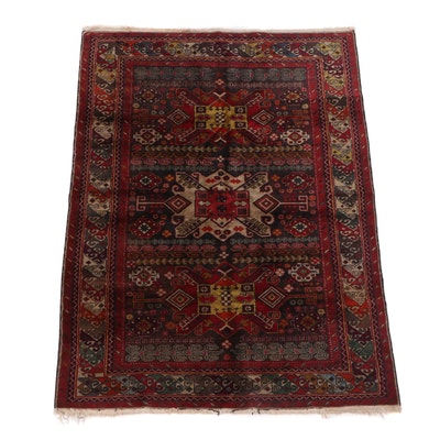 Hand-Knotted Caucasian Shirvan Wool Rug