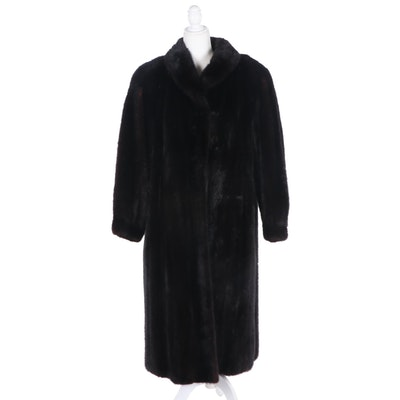 Ranch Mink Fur Coat with Tapered Cuffs