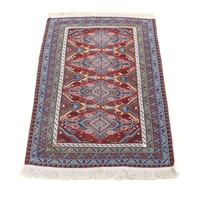Handwoven Anatolian Soumak Wool Rug
