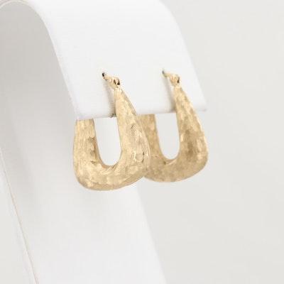 10K Yellow Gold Hoop Earrings