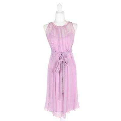 Lilac Sleeveless Tie-Back Dress