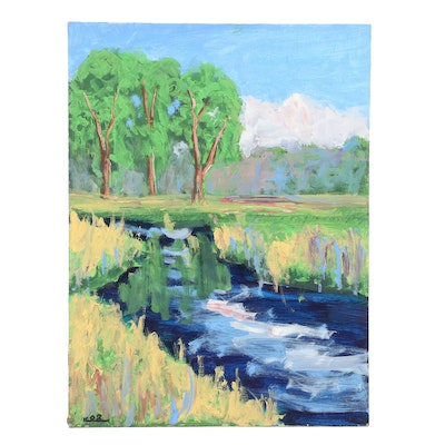 Kenneth Burnside Oil Landscape Painting