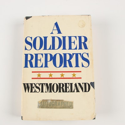 """1976 Signed """"A Soldier Reports"""" by General William C. Westmoreland"""